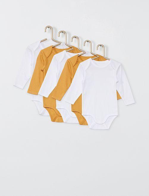 Pack de 5 bodies                                                                 amarillo