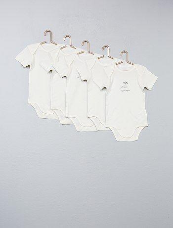 Pack de 5 bodies de algodón puro - Kiabi