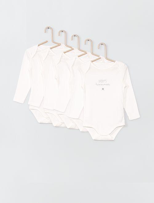 Pack de 5 bodies eco-concepción                                         BLANCO