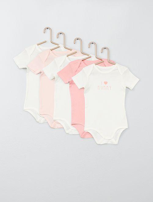 Pack de 5 bodis                                                                 BLANCO Bebé niña