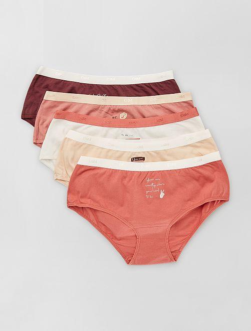 Pack de 5 boxers 'Dim'                                                                 BEIGE