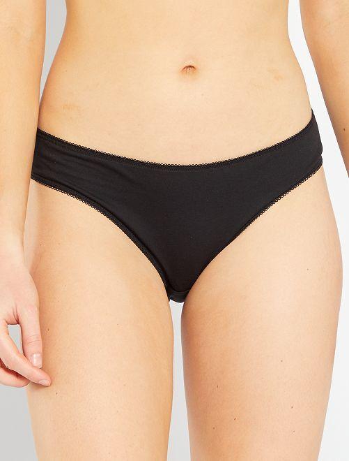 Pack de 5 braguitas 'eco-concepción'                                         negro