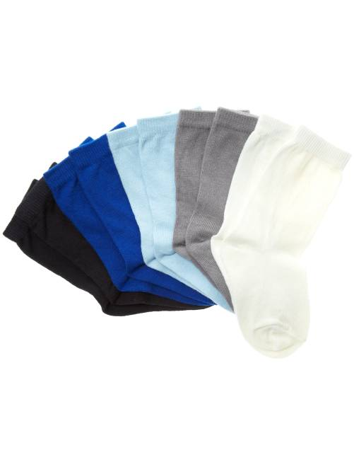 Pack de 5 pares de calcetines                                         azul Bebé niña