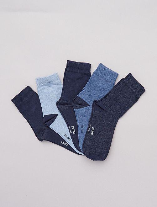 Pack de 5 pares de calcetines                                         azul