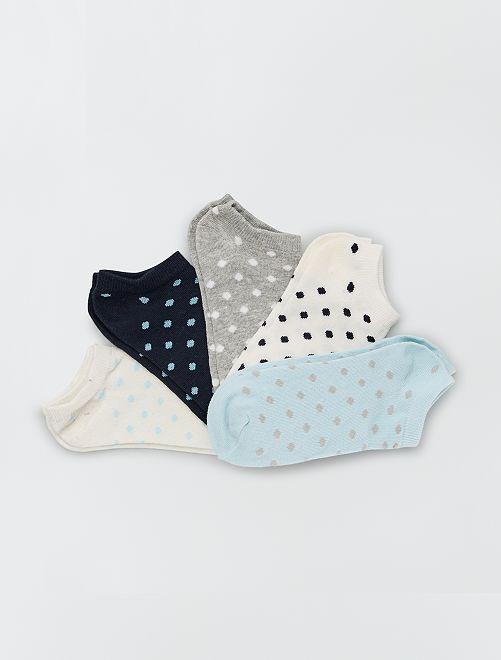 Pack de 5 pares de calcetines                                         azul/gris