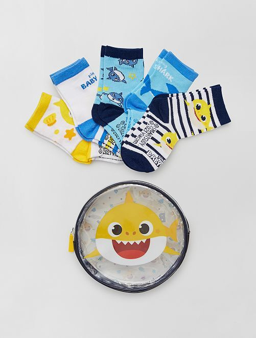 Pack de 5 pares de calcetines 'Baby Shark'                             multicolor