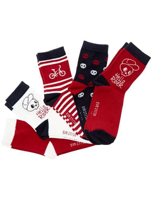 Pack de 5 pares de calcetines 'bici'                             ROJO Chico