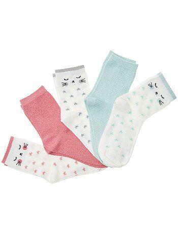 Pack de 5 pares de calcetines con hilos brillantes - Kiabi