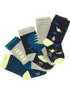 Niño 0-36 meses Pack de 5 pares de calcetines con motivos