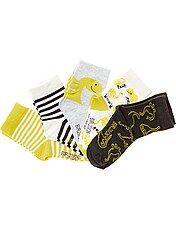 Pack de 5 pares de calcetines con motivos