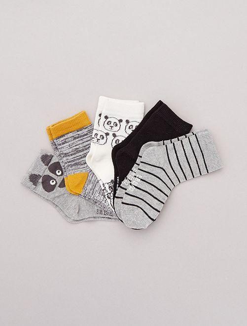 Pack de 5 pares de calcetines con motivos                     panda