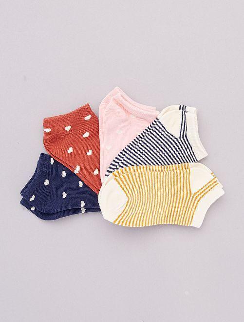 Pack de 5 pares de calcetines 'florales'                     corazón
