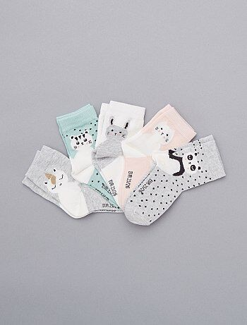 Pack de 5 pares de calcetines de 'animal' - Kiabi