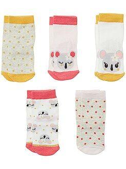 Calcetines, leotardos - Pack de 5 pares de calcetines de animales