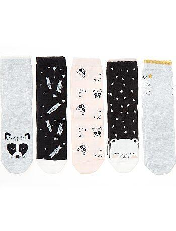 Pack de 5 pares de calcetines de 'animales' - Kiabi