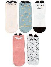 Pack de 5 pares de calcetines de \'animales\'