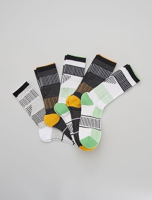 Pack de 5 pares de calcetines de deporte                                         AMARILLO