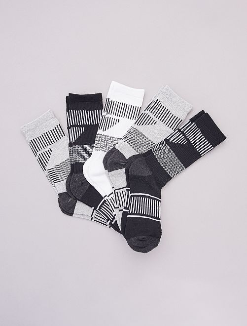 Pack de 5 pares de calcetines de deporte                                         NEGRO