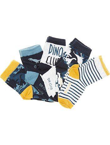 Niño 3-12 años - Pack de 5 pares de calcetines de 'dinosaurios' - Kiabi