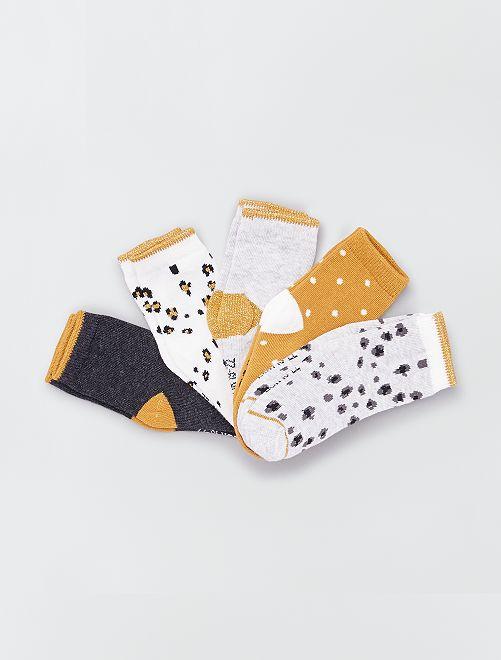 Pack de 5 pares de calcetines eco-concepción                                                                                                                 AMARILLO