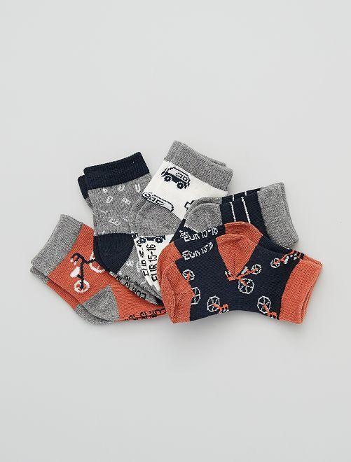 Pack de 5 pares de calcetines eco-concepción                                                                                                                                                                                                                                                                 AZUL