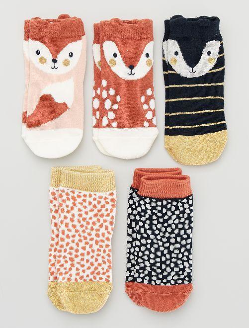 Pack de 5 pares de calcetines eco-concepción                                                                                                                                                                                                                                                                 BEIGE