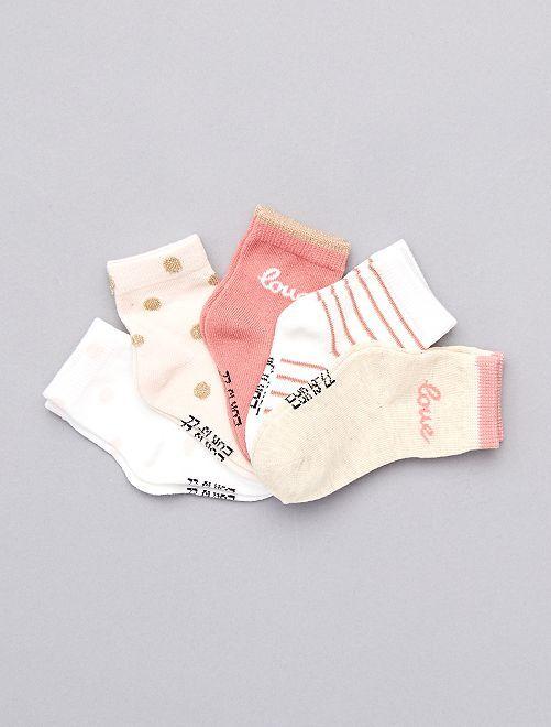 Pack de 5 pares de calcetines eco-concepción                                                                                                                 blanco nieve