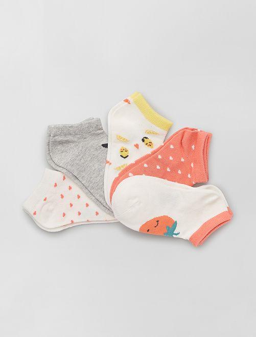 Pack de 5 pares de calcetines eco-concepción                                                                 BLANCO