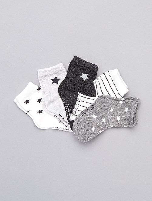 Pack de 5 pares de calcetines eco-concepción                                                                                                                                 GRIS