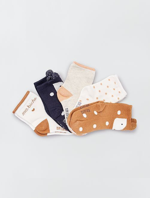 Pack de 5 pares de calcetines eco-concepción                                                                 NARANJA