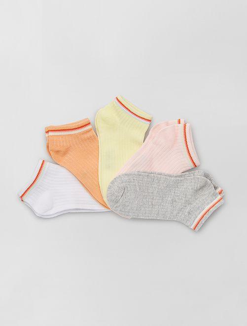 Pack de 5 pares de calcetines eco-concepción                             ROSA