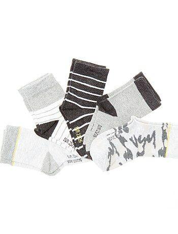 Pack de 5 pares de calcetines estampados - Kiabi