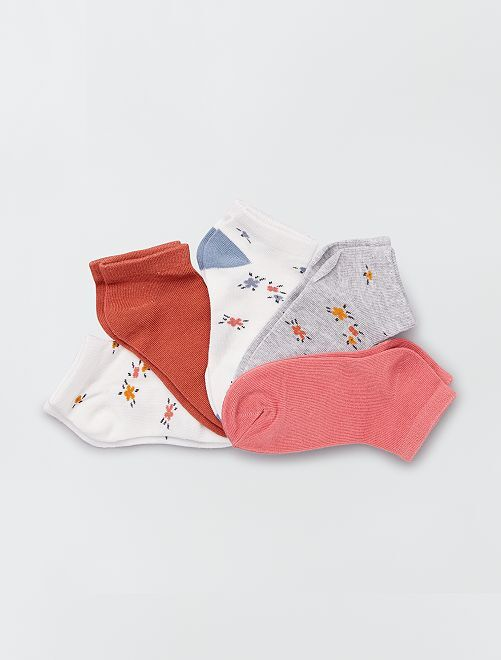 Pack de 5 pares de calcetines 'florales'                                                                             flores