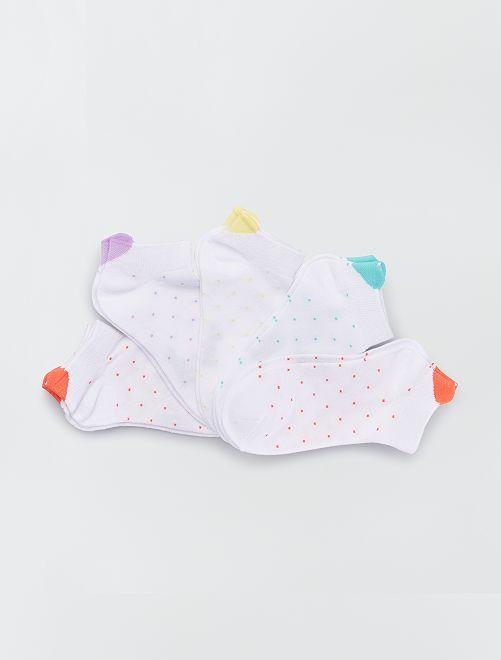 Pack de 5 pares de calcetines 'florales'                                                                 ROJO
