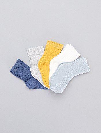 2ba57d984 Niño 0-36 meses - Pack de 5 pares de calcetines - Kiabi