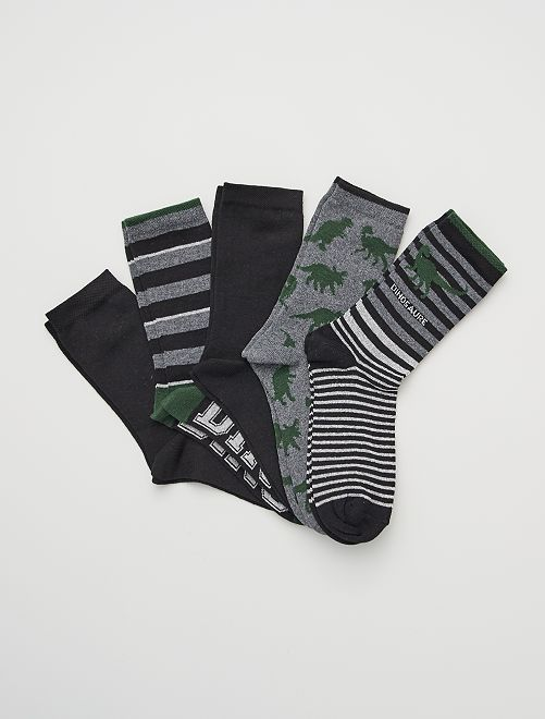 Pack de 5 pares de calcetines                             gris