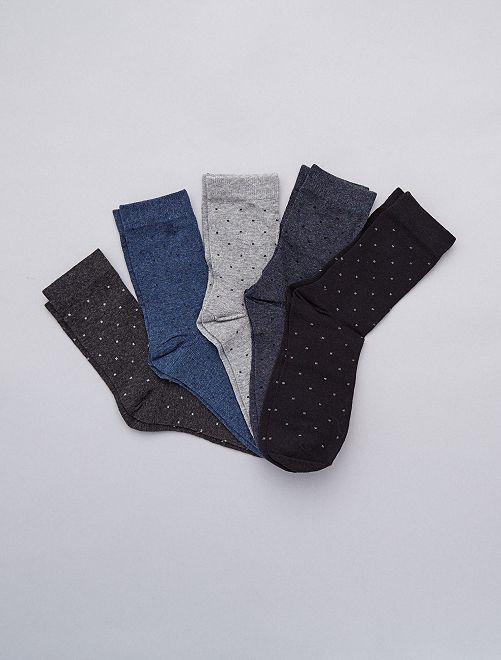Pack de 5 pares de calcetines                             GRIS Tallas grandes hombre
