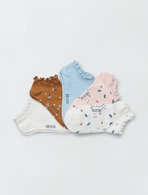 Pack de 5 pares de calcetines invisibles                                         BLANCO