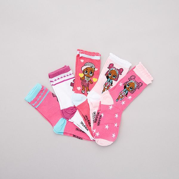 Pack de dos pares de calcetines de Lol Surprise 31//34