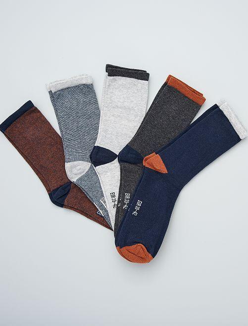 Pack de 5 pares de calcetines                                                     MARRON