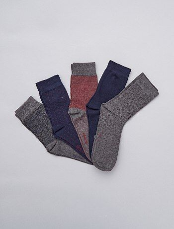 Tallas grandes hombre - Pack de 5 pares de calcetines - Kiabi