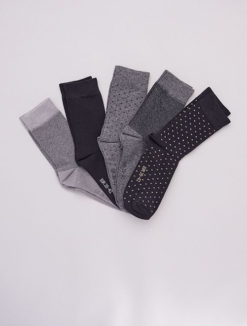 Pack de 5 pares de calcetines                                                     NEGRO