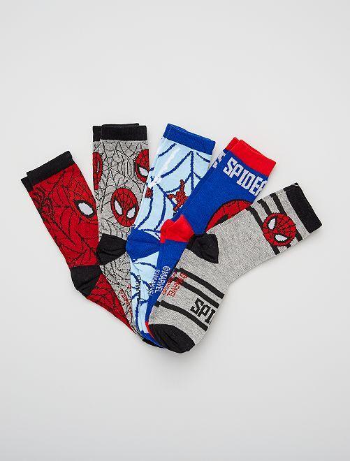 Pack de 5 pares de calcetines 'Spider-Man'                             multicolor