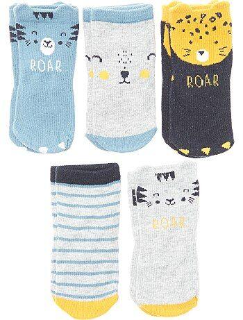 Pack de 5 pares de calcetines 'tigre' - Kiabi