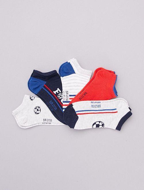 Pack de 5 pares de calcetines tobilleros                                                                 AZUL
