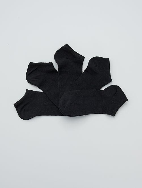 Pack de 5 pares de calcetines tobilleros                                         negro