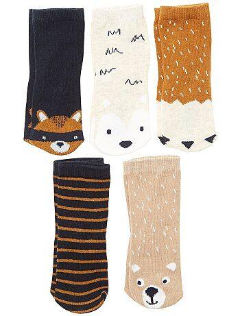 Pack de 5 pares de calcetines 'zorro' - Kiabi
