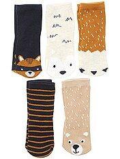 Pack de 5 pares de calcetines 'zorro'