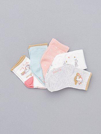 Pack de 5 pares estampados - Kiabi