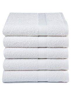 Hogar - Pack de 5 toallas de algodón puro - Kiabi